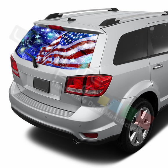 4th July graphics Perforated Decals Dodge Journey 2009 - Present