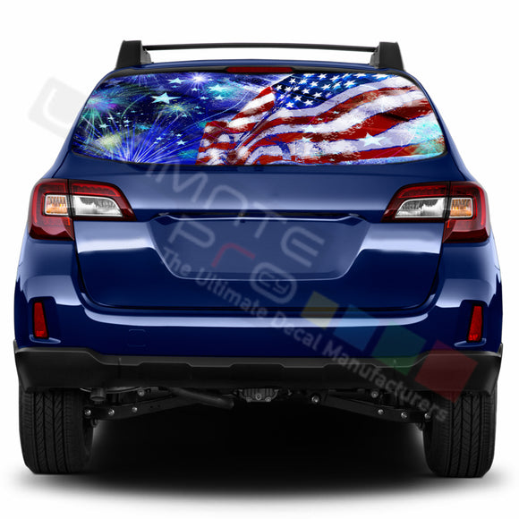 4th July Perforated Decals stickers compatible with Subaru Outback