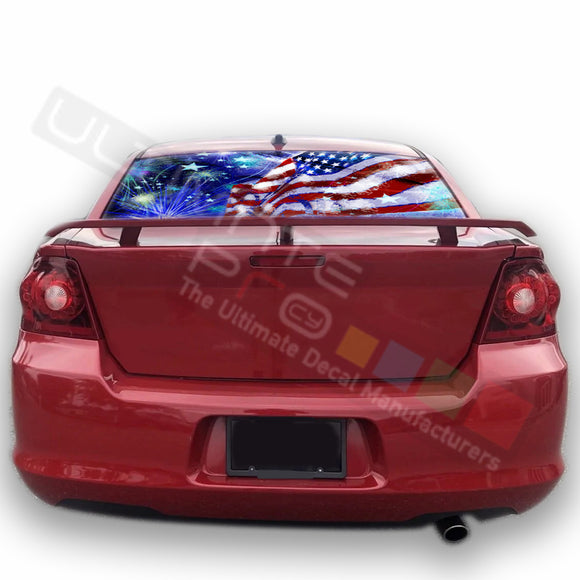 4th July graphics Perforated Decals Dodge Avenger 2007 - Present