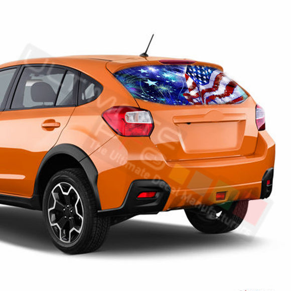4th July Perforated Decals Subaru Crosstreck graphics 2015 - Present
