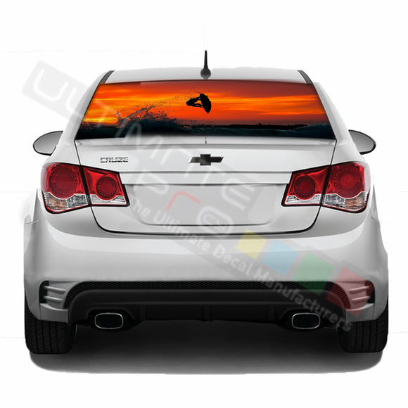 Surf Perforated decal Chevrolet Cruz graphics vinyl 2009-Present