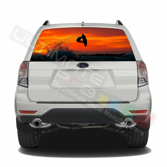 Surf graphics Perforated Decals Subaru Forester 2012 - Present