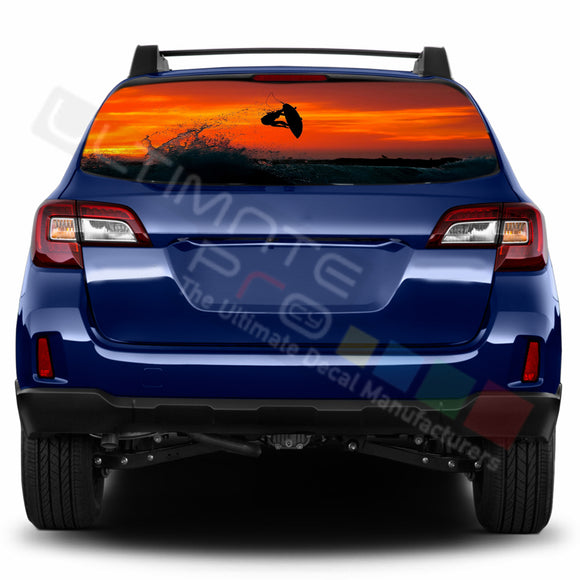 Surf Perforated Decals stickers compatible with Subaru Outback