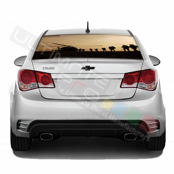 Army Perforated decal Chevrolet Cruz graphics vinyl 2009-Present