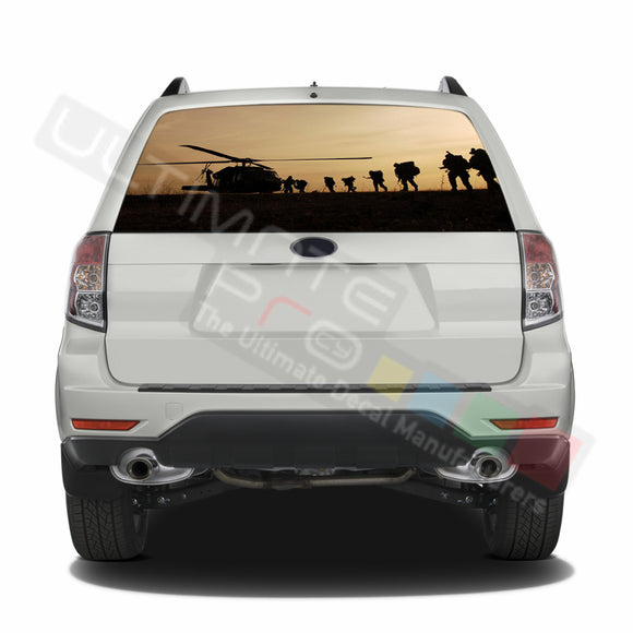 Army graphics Perforated Decals Subaru Forester 2012 - Present