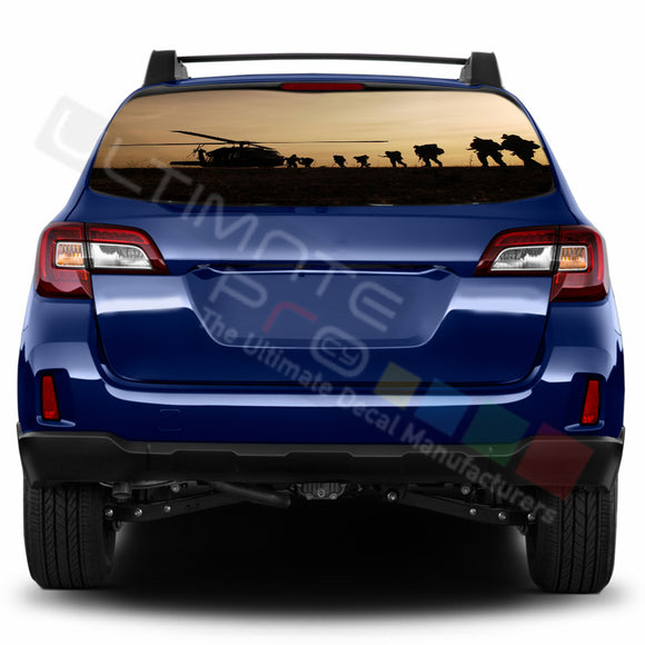Army Perforated Decals stickers compatible with Subaru Outback
