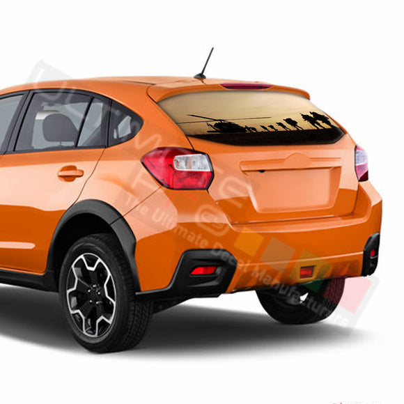 Army Perforated Decals Subaru Crosstreck graphics 2015 - Present