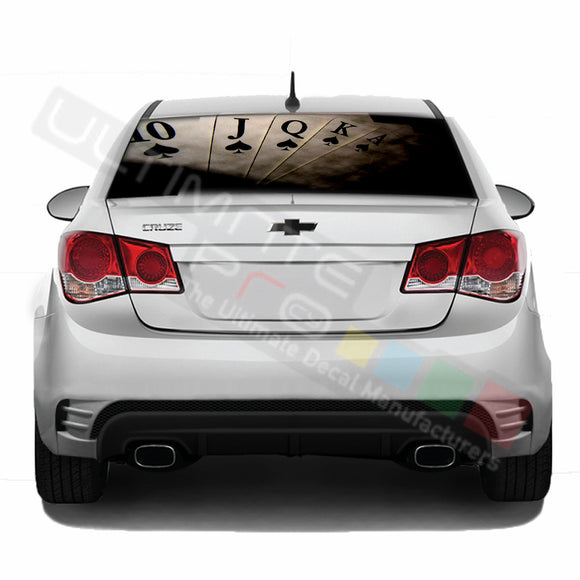 Poker Perforated decal Chevrolet Cruz graphics vinyl 2009-Present