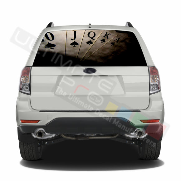 Poker graphics Perforated Decals Subaru Forester 2012 - Present