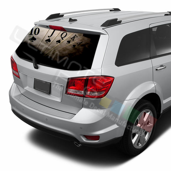 Poker graphics Perforated Decals Dodge Journey 2009 - Present