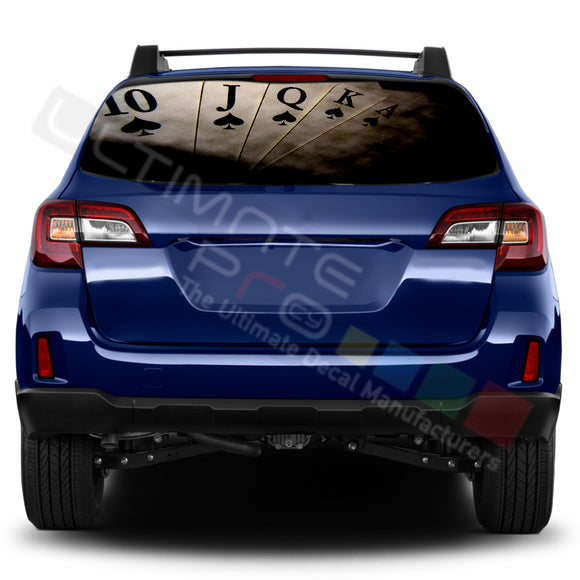 Poker Perforated Decals stickers compatible with Subaru Outback