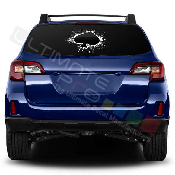 Ace Perforated Decals stickers compatible with Subaru Outback