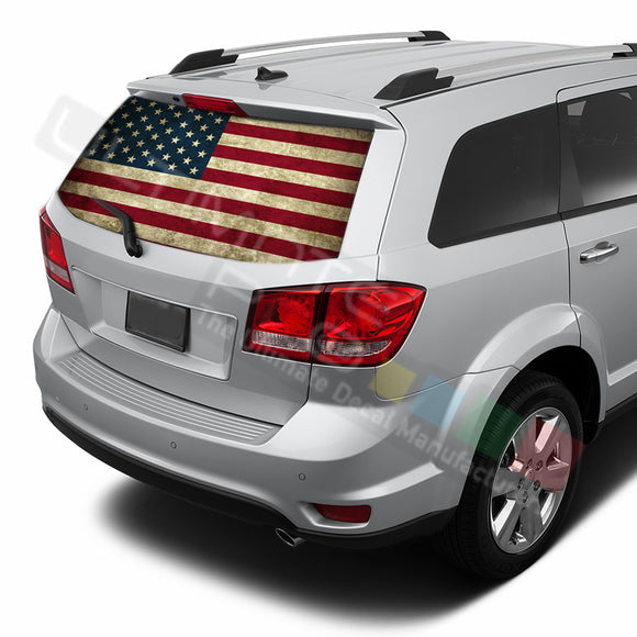 USA Flag 1 graphics Perforated Decals Dodge Journey 2009 - Present
