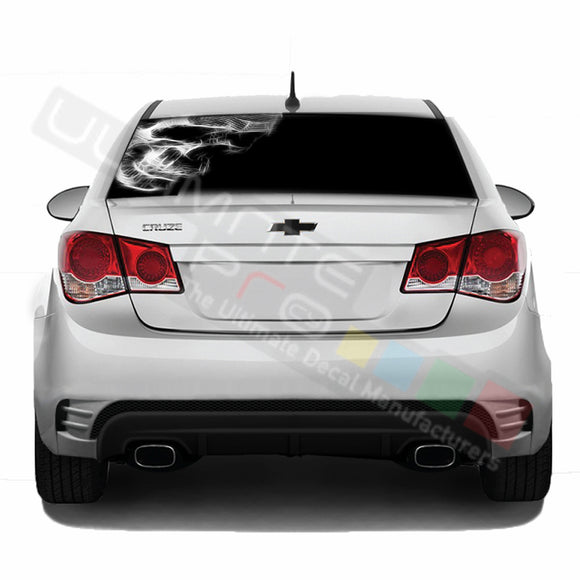 Skull Perforated decal Chevrolet Cruz graphics vinyl 2009-Present