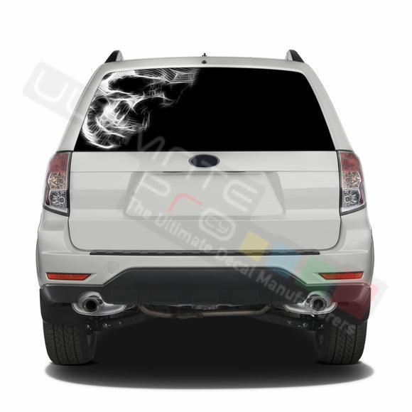 Skull 1 graphics Perforated Decals Subaru Forester 2012 - Present