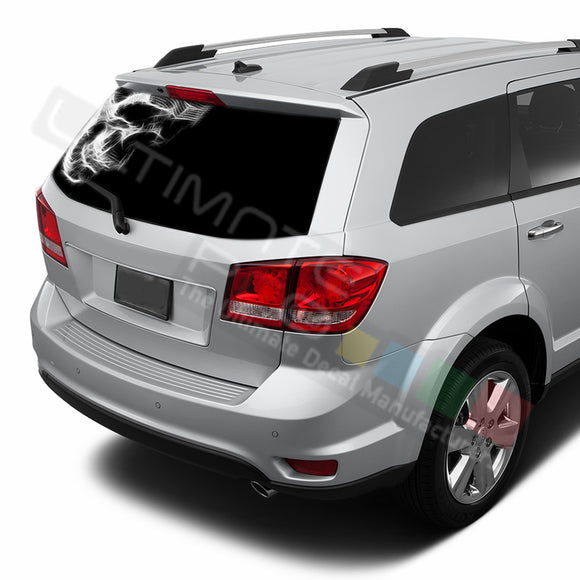 Skull graphics Perforated Decals Dodge Journey 2009 - Present