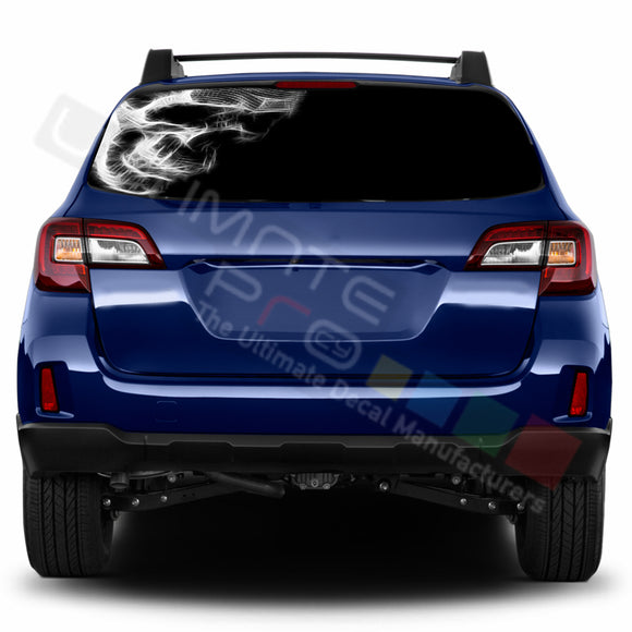 Skull 1 Perforated Decals stickers compatible with Subaru Outback