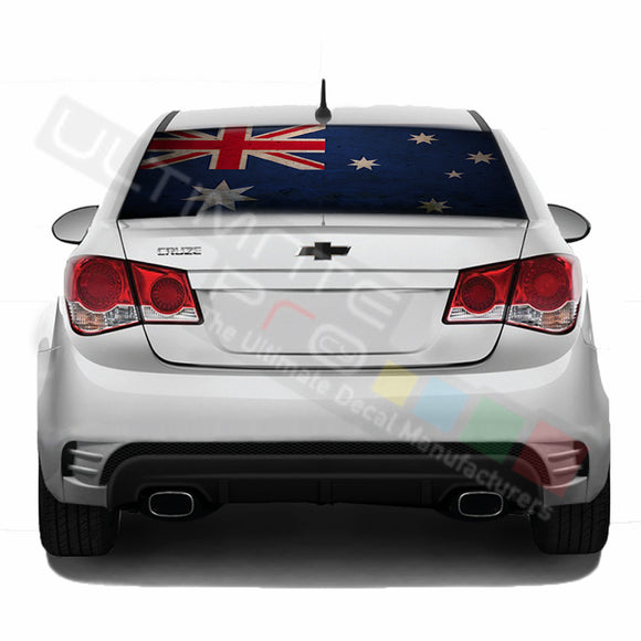 Aust Flag Perforated decal Chevrolet Cruz graphics vinyl 2009-Present