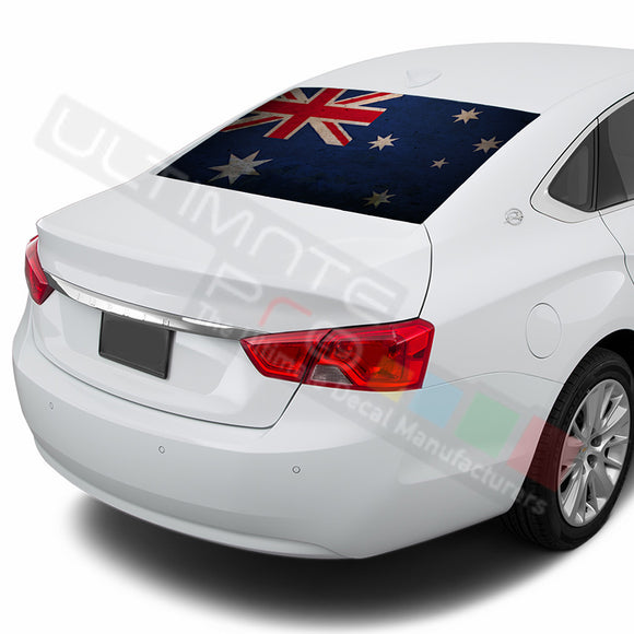 Aus Flag Perforated decal Chevrolet Impala graphics vinyl 2015-Present