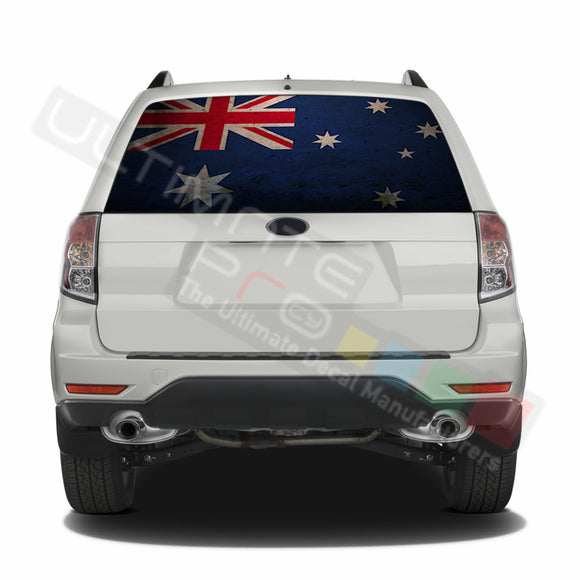 Australian graphics Perforated Decals Subaru Forester 2012 - Present
