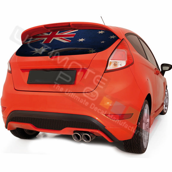 Australian graphics Perforated Decals Ford Fiesta 2008-Present