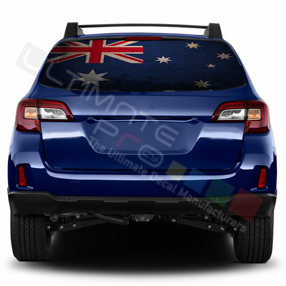 Australian Perforated Decals stickers compatible with Subaru Outback