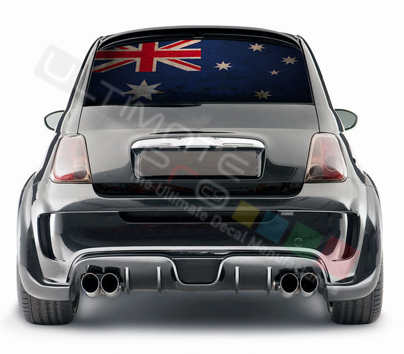 Australian graphics Perforated Decals Fiat 500 Abarth 2007 - Present