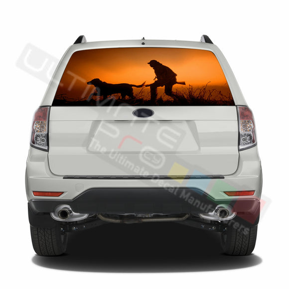 Hunting 1 graphics Perforated Decals Subaru Forester 2012 - Present