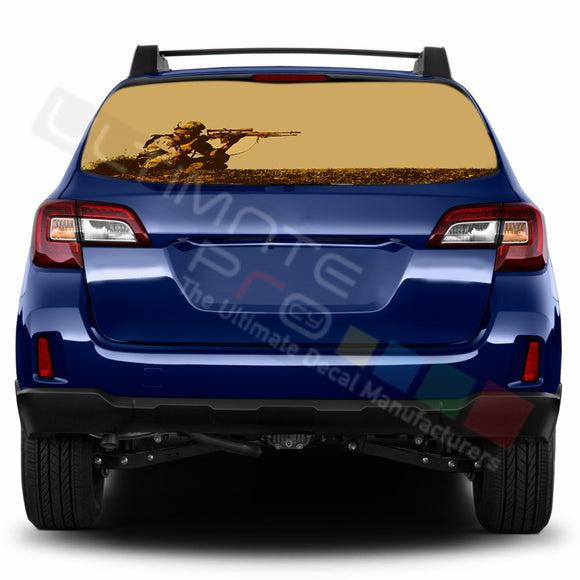Sniper Perforated Decals stickers compatible with Subaru Outback