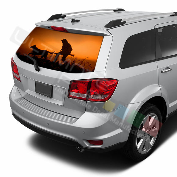 Hunting graphics Perforated Decals Dodge Journey 2009 - Present
