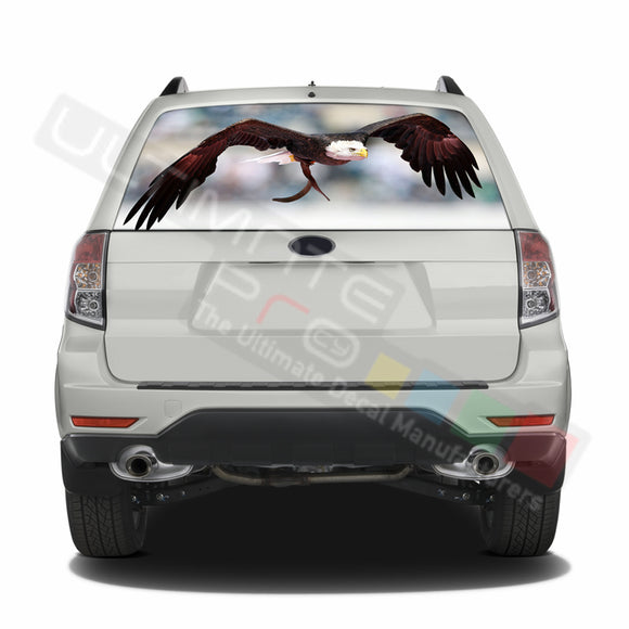 Eagle 2 graphics Perforated Decals Subaru Forester 2012 - Present