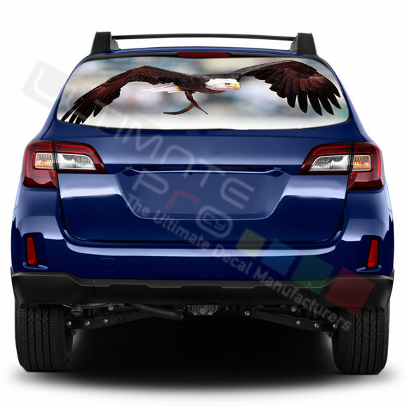 Eagle 2 Perforated Decals stickers compatible with Subaru Outback
