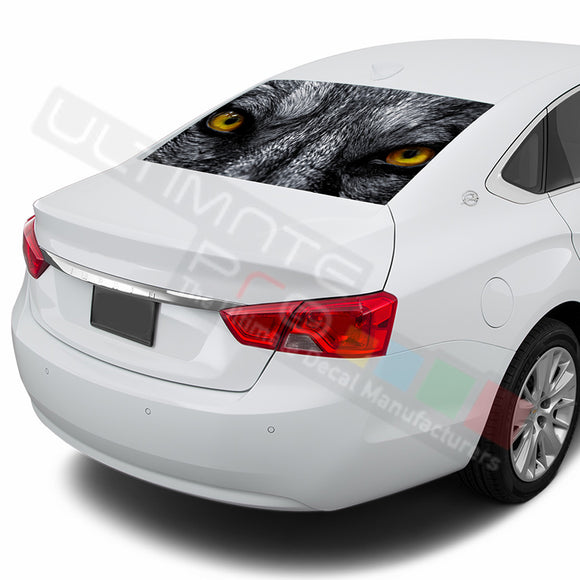 Wolf Perforated decal Chevrolet Impala graphics vinyl 2015-Present