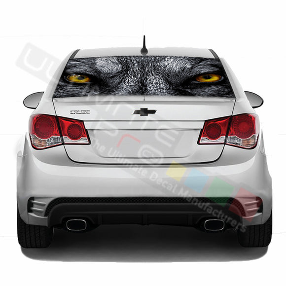 Wolf Perforated decal Chevrolet Cruz graphics vinyl 2009-Present