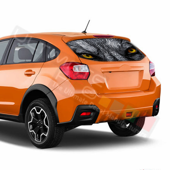 Wolf Perforated Decals Subaru Crosstreck graphics 2015 - Present