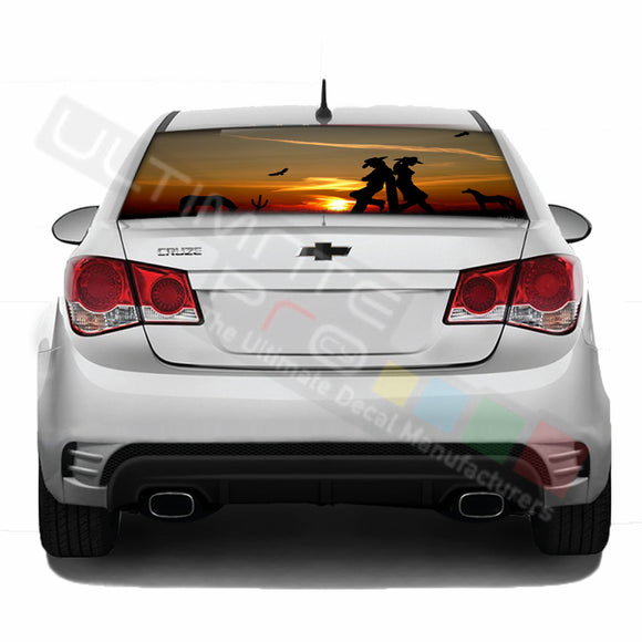 West Perforated decal Chevrolet Cruz graphics vinyl 2009 - Present