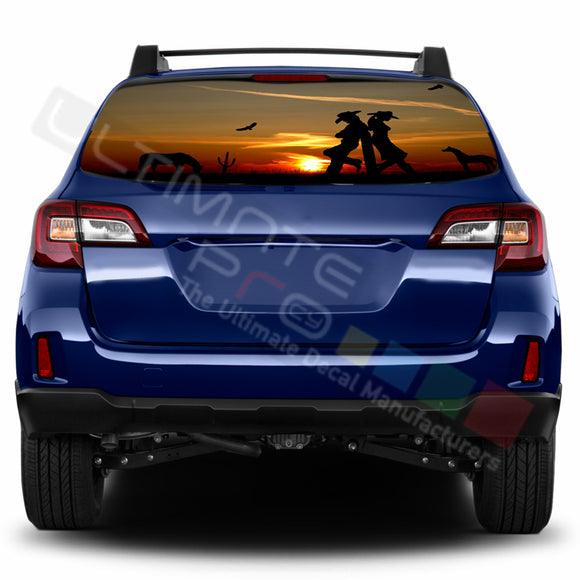 West Perforated Decals stickers compatible with Subaru Outback