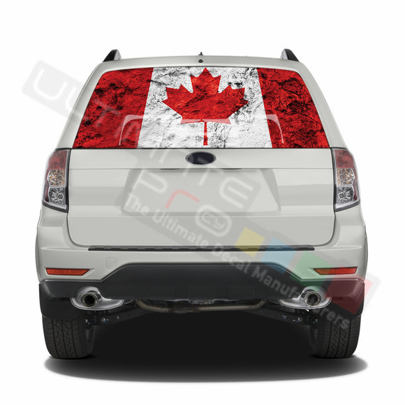 Canada graphics Perforated Decals Subaru Forester 2012 - Present