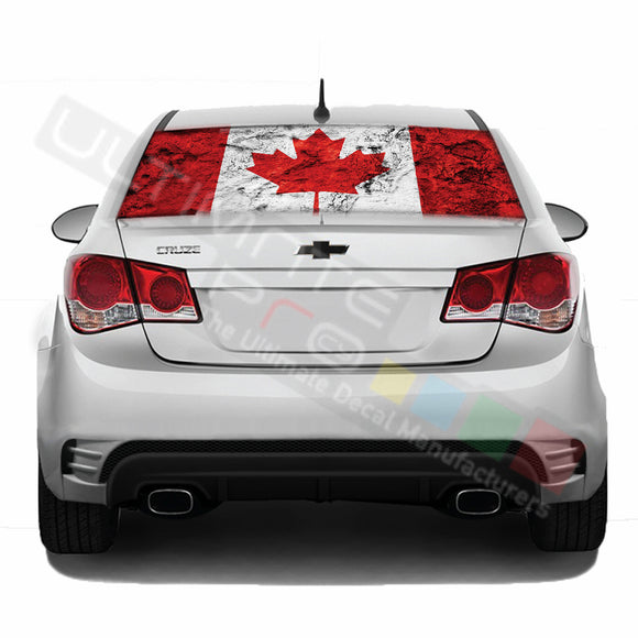 Can Flag Perforated decal Chevrolet Cruz graphics vinyl 2009-Present