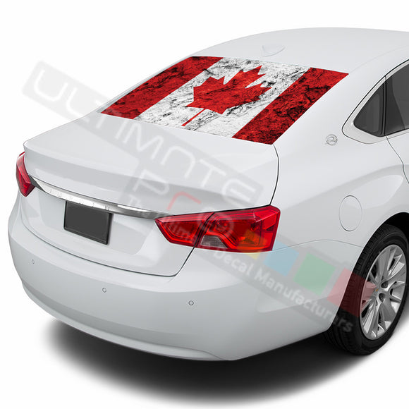 Can Flag Perforated decal Chevrolet Impala graphics vinyl 2015-Present