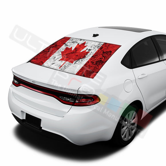 Canada graphics Perforated Decals Dodge Dart 2015 - Present