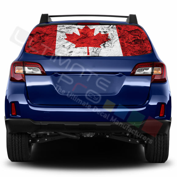 Canada Perforated Decals stickers compatible with Subaru Outback