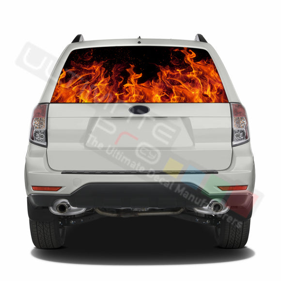 Flames graphics Perforated Decals Subaru Forester 2012 - Present