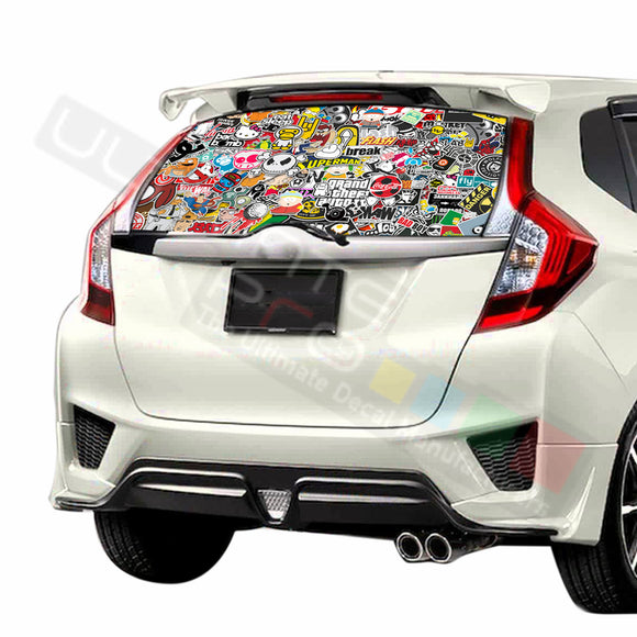 Bomb Skin Perforated Decals stickers compatible with Honda Fit