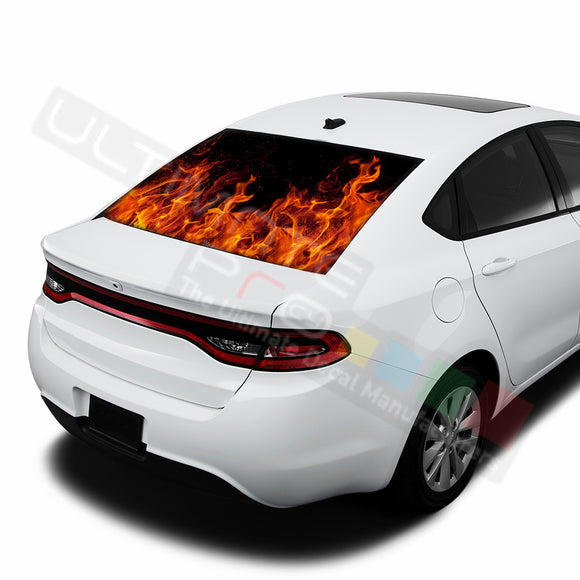 Flame graphics Perforated Decals Dodge Dart 2015 - Present