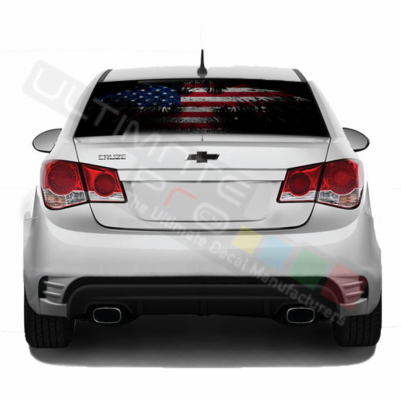 EagleFlag Perforated decal Chevrolet Cruz graphics vinyl 2009-Present