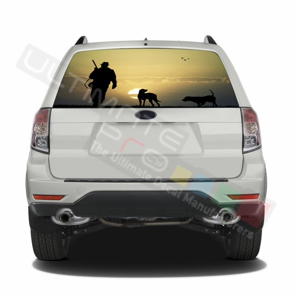 Hunting 2 graphics Perforated Decals Subaru Forester 2012 - Present