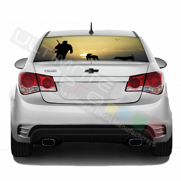 Hunting Perforated decal Chevrolet Cruz graphics vinyl 2009-Present