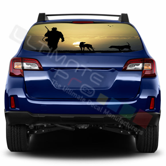 Hunting Perforated Decals stickers compatible with Subaru Outback