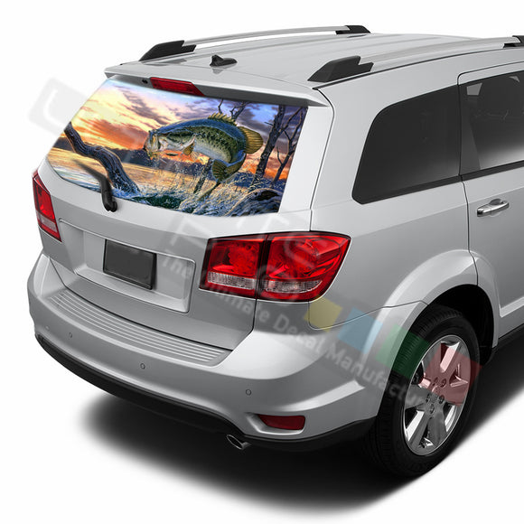 Fishing graphics Perforated Decals Dodge Journey 2009 - Present